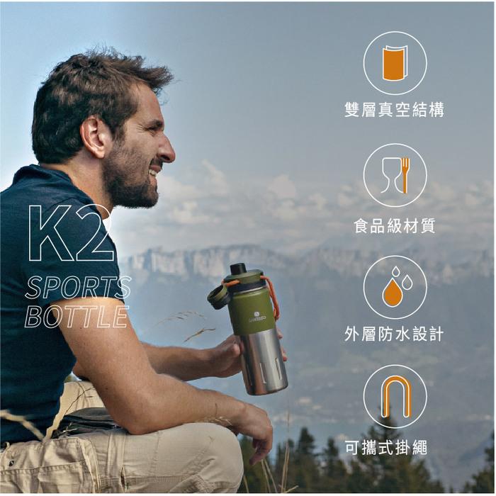 SANTENCO|KTWO 戶外保溫瓶 500ml(靛藍)