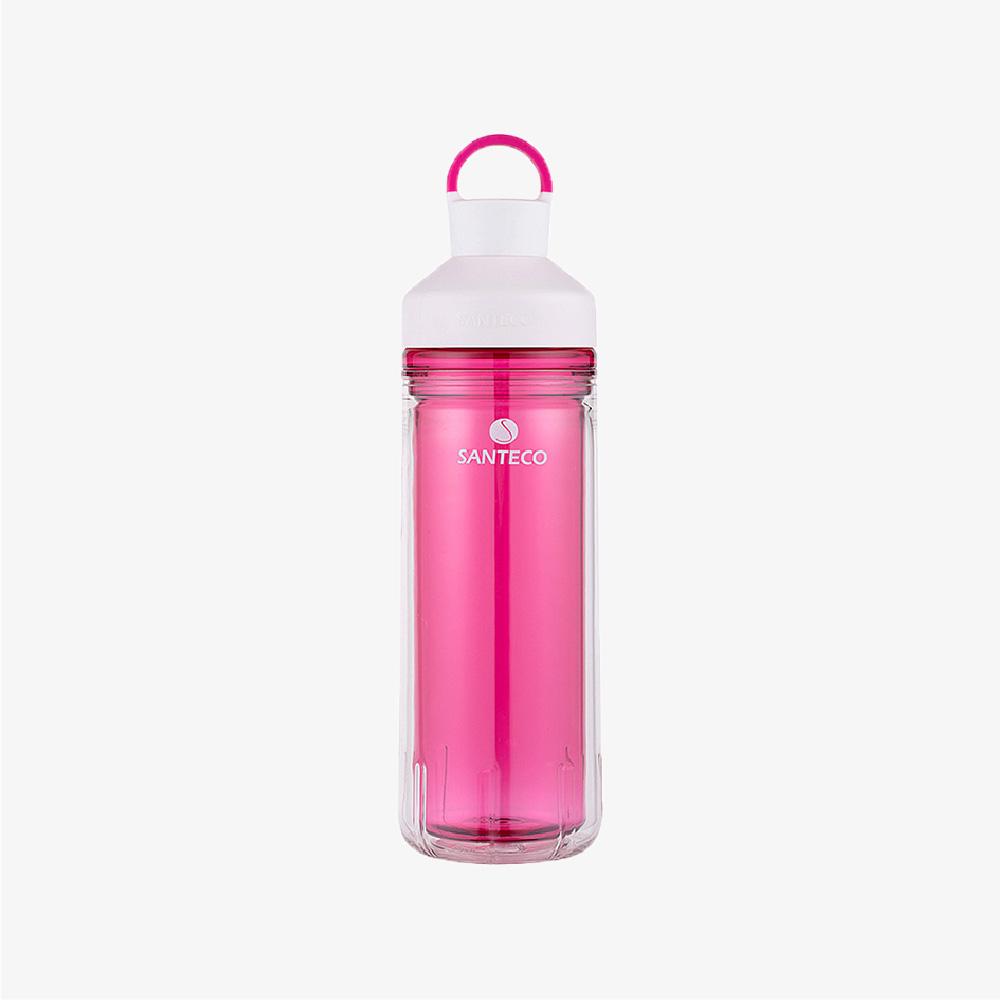 SANTENCO|OCEAN TRITAN 雙層冷水瓶 590ml (莓果紅)