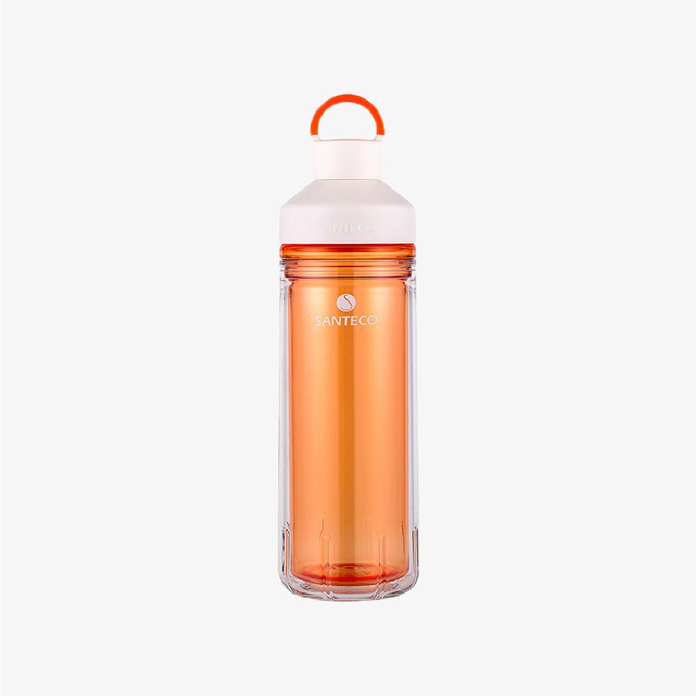 SANTENCO|OCEAN TRITAN 雙層冷水瓶 590ml (琥珀橙)