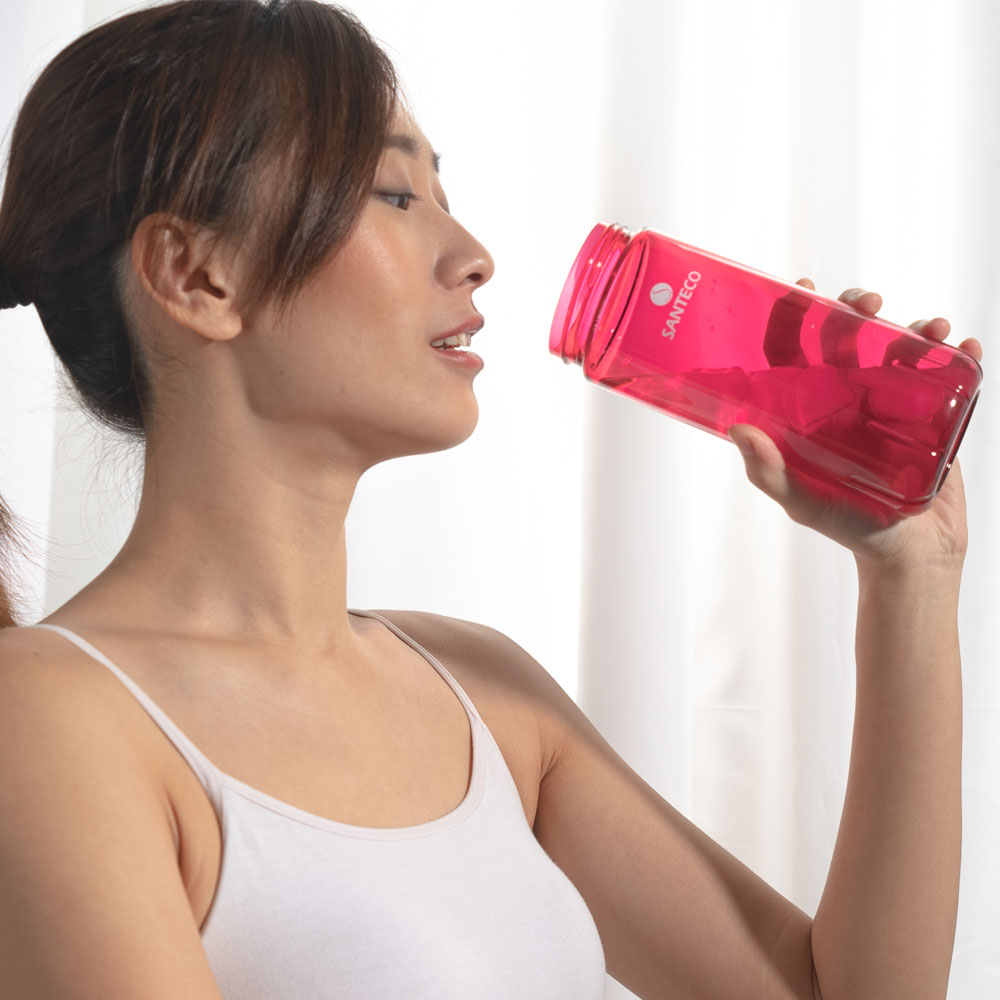 SANTECO|OCEAN TRITAN 單層冷水瓶 710ml  (莓果紅)