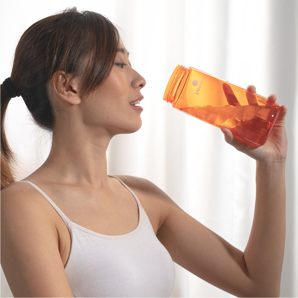 SANTENCO OCEAN TRITAN 單層冷水瓶 710ml 1+1組合 (琥珀橙)