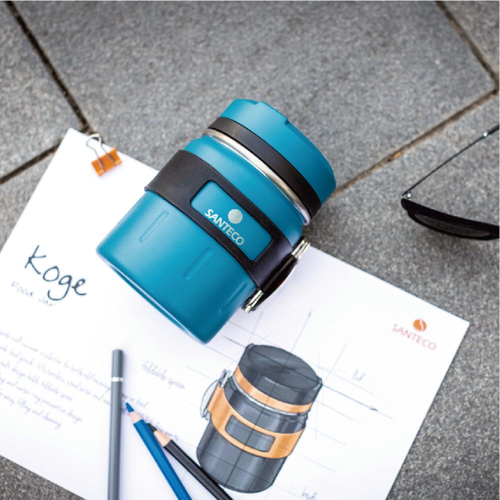 SANTENCO|KOGE 燜燒罐附摺叠湯匙 500ml (海灣藍)