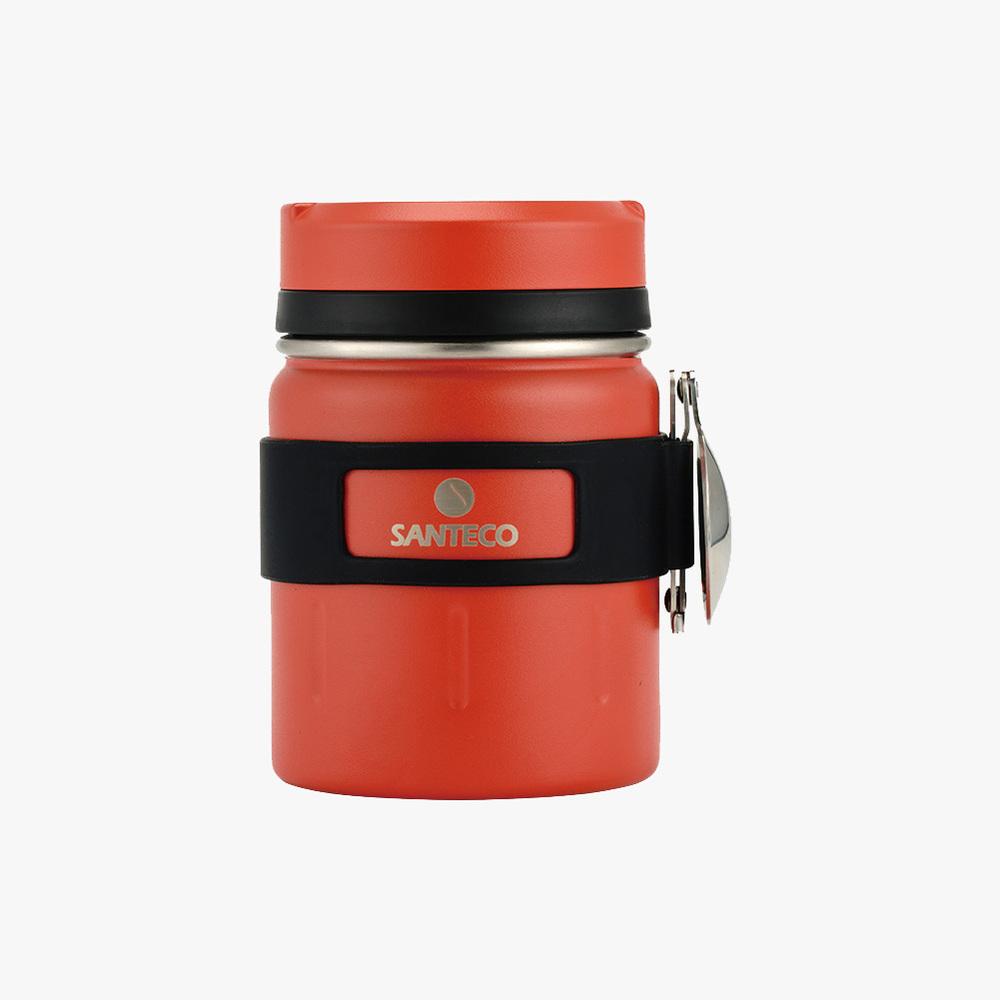 SANTENCO|KOGE 燜燒罐附摺叠湯匙 500ml (橙果紅)