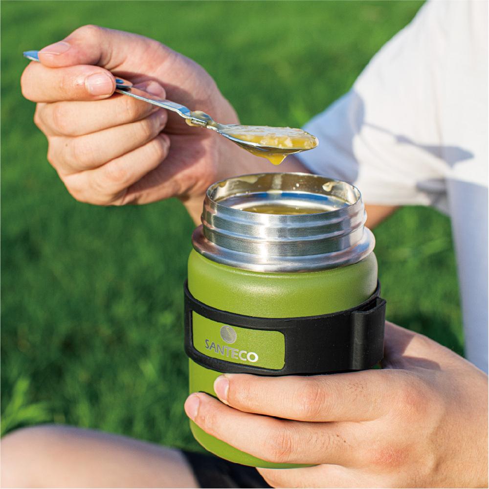 SANTENCO|KOGE 燜燒罐附摺叠湯匙 500ml (苔綠)