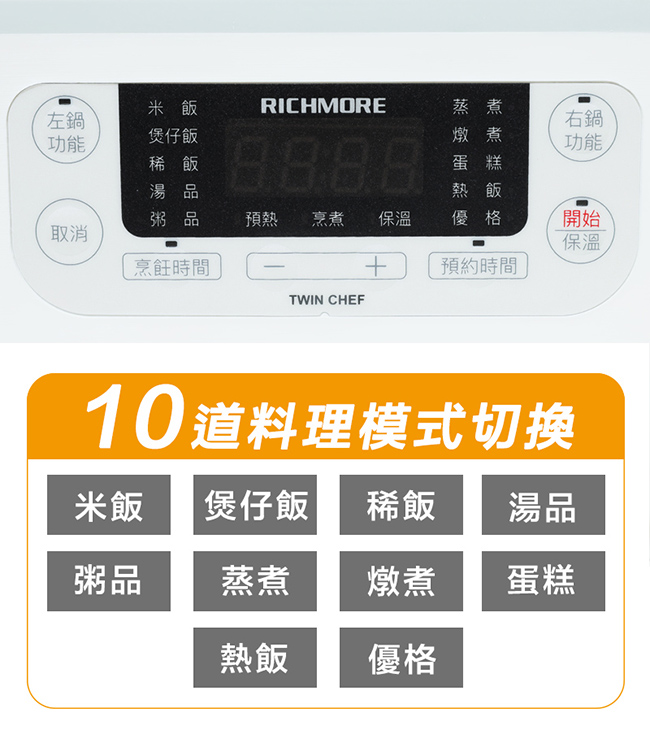 RICHMORE Twin Chef 全能雙槽電子鍋 RM-0638