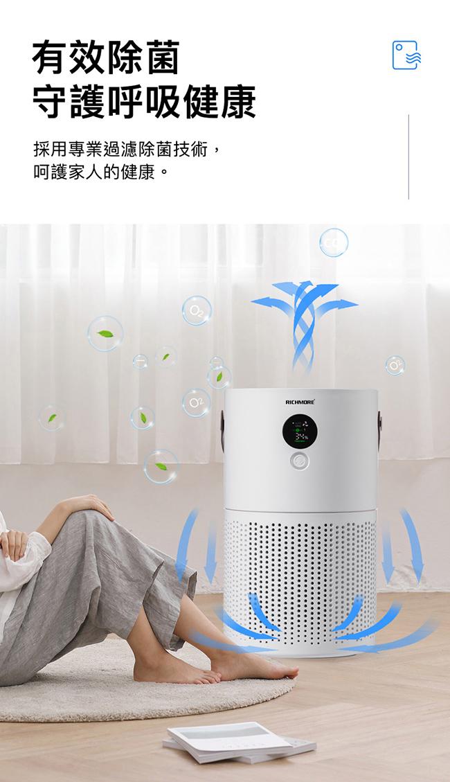 RICHMORE 抗敏HEPA負離子空氣清淨機RM-0168