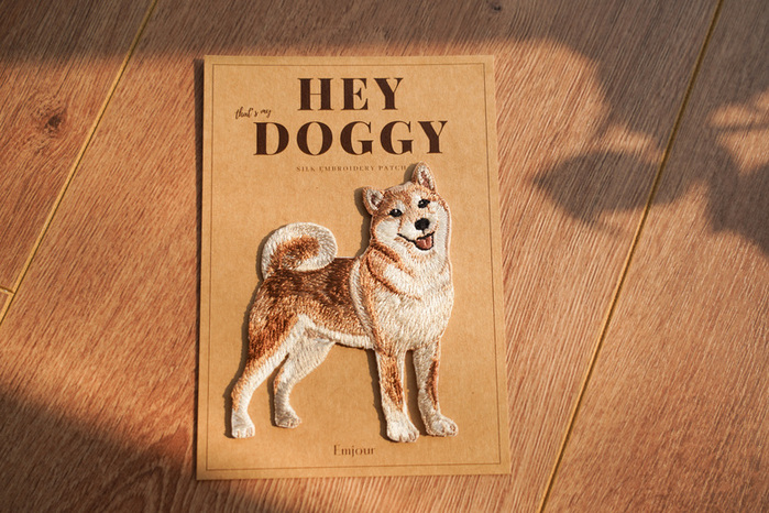 Emjour 犬系列刺繡熨燙貼 - 柴犬