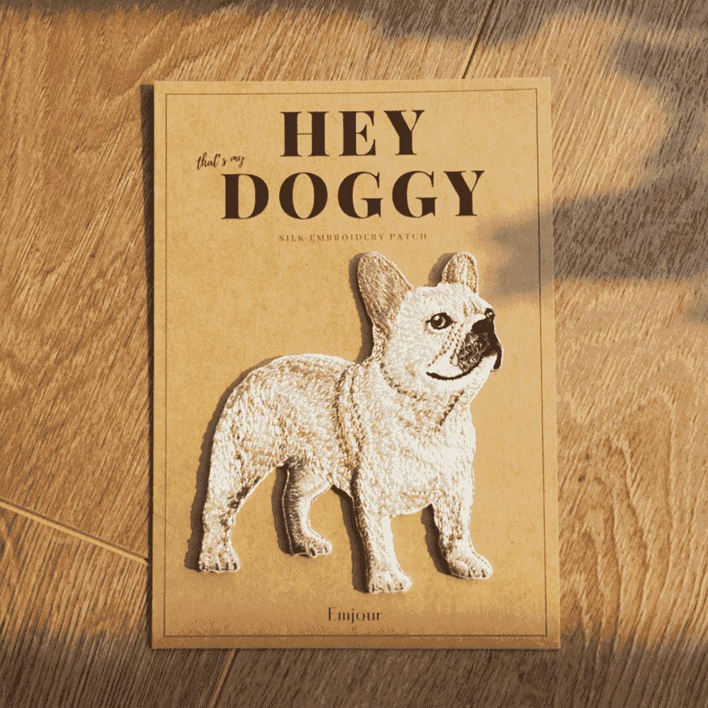 Emjour 犬系列刺繡熨燙貼 - 法鬥