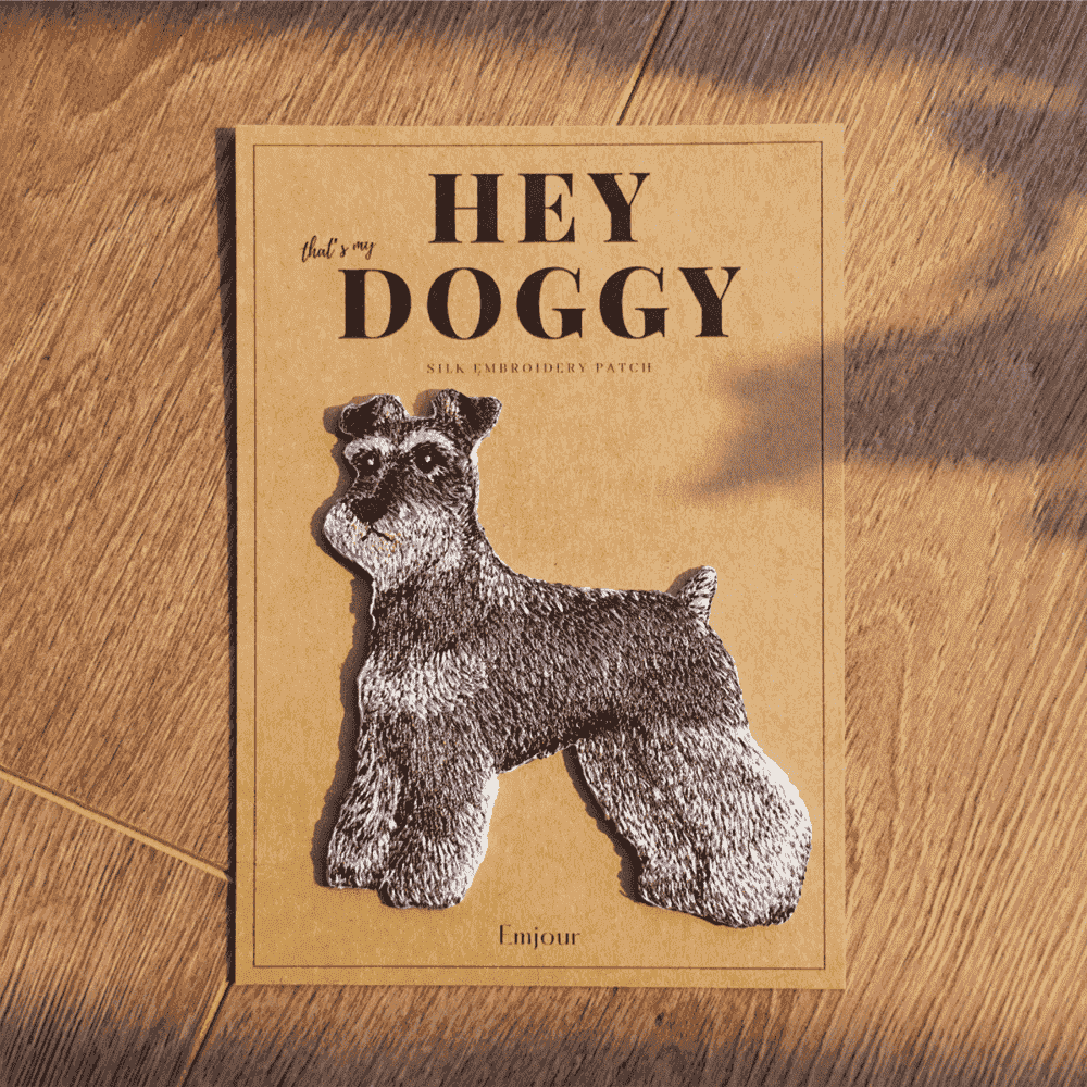 Emjour|犬系列刺繡熨燙貼 - 雪納瑞
