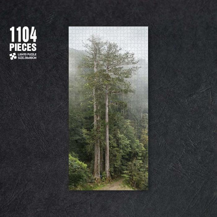 LIGHTO 台灣杉1104片拼圖-撞到月亮的樹